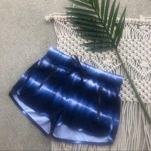 Athleta Blue Tie Dye Athletic Shorts Size XS